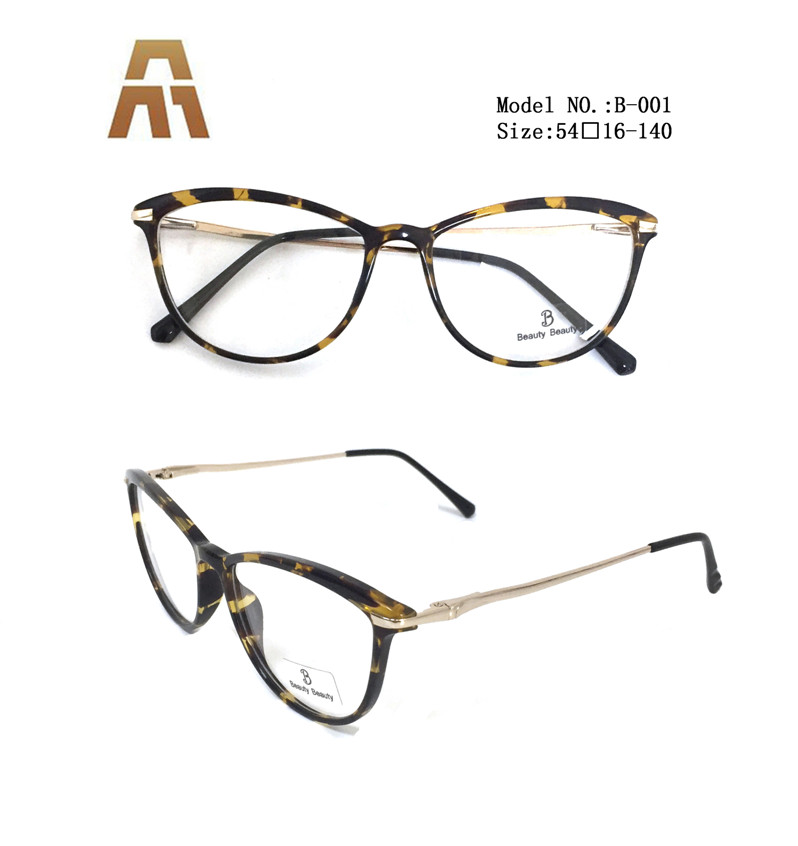 B-001.High Quality Trendy Latest Ideas classical Products Eyeglass Acetate Optical Frame